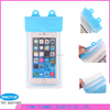 Transparent PVC Phone Case Bags with three layer waterproof zip and velcro