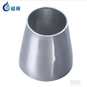 3A schedule 40 sanitary stainless steel pipe fitting socket weld concentric reducer for dairy process