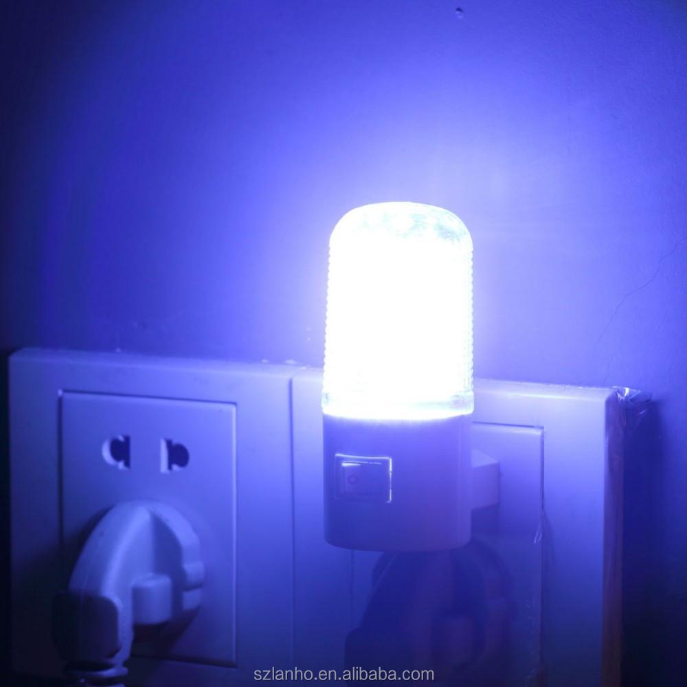 4 Led Wall Mounting Bedroom Night Lamp Licht Light Plug Lighting ...