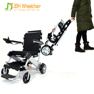 120KG/265LBS Load Capacity Aluminum Alloy portable foldable stair climber electromagnetic brake electric wheelchair for disabled