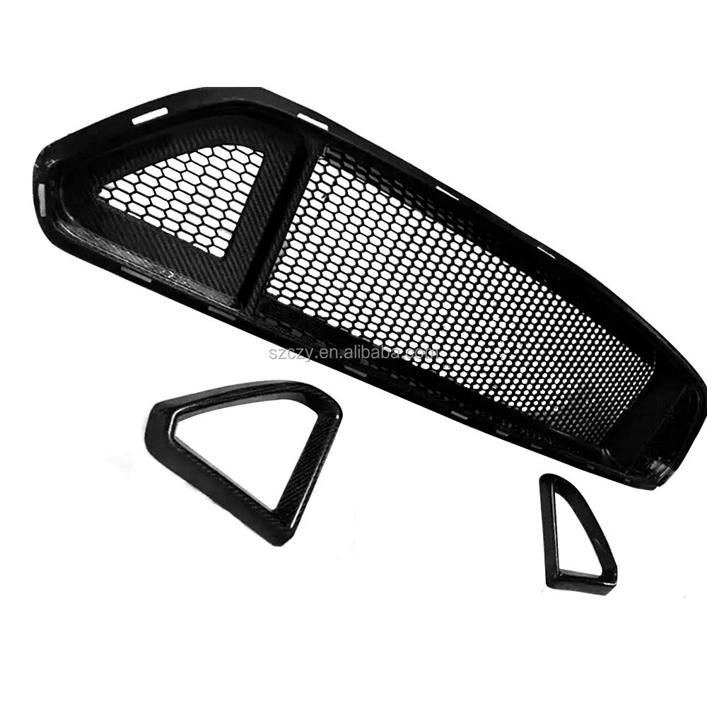 R Phong Cách Carbon Fiber Car Front Grill Cho Ford Mustang GT Coupe 15-16
