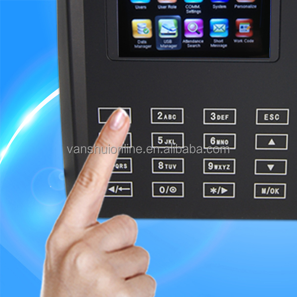 Biometric time attendance/time recording device/fingerprint clock recorder