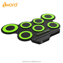 iWord Digital Drum Silicone Study Playing Sound Recorder Roll up  Drum,without speakers
