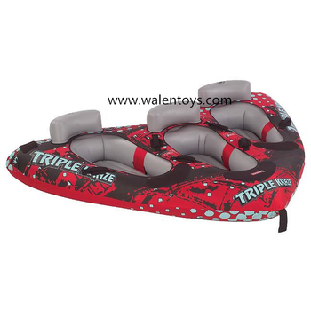 China Supplier Inflatable Boat Water Lake Towable Tube Tow 3 ...