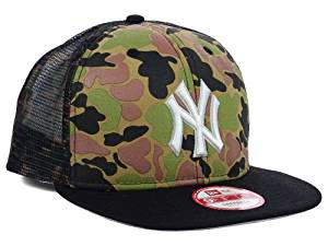 a2db2a088a798 Get Quotations · New Era New York Yankees Snapback Medium   Large Trucker  Syle Hat Camouflage Snap Mesh Back