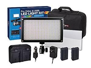 312 LED Light Pro Video and DSRL Varicolor Kit For Panasonic AG-3DA1, AG-AC130A, AG-AC160A, AG-AC8PJ, AG-AC90A, AG-AF100A, AG-AF105, AG-DVX100B, AG-HCK10G, AG-HMC40PJ, AG-HMC80PJ, AG-HMC150PJ, AG-HPX250PJ, AG-HPX255, AG-HPX370, AG-HPX600P, AG-HVX200, AJ-HPX3100GJ, AJ-HPX3700, AJ-PX270, AJ-PX5000G,