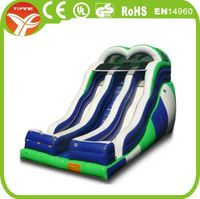 Super long triple lane slide the city inflatable/giant inflatable city