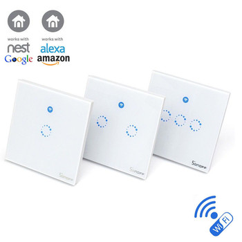 Sonoff T1 1 2 3 Gang Wifi & Rf 86 Type Uk Wall Touch Light Switch For Smart  Home - Buy Sonoff T1,3 Gang Remote And Touch Light Switch,Wall Touch