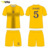 slim fit thai quality yellow blue soccer jersey original tags