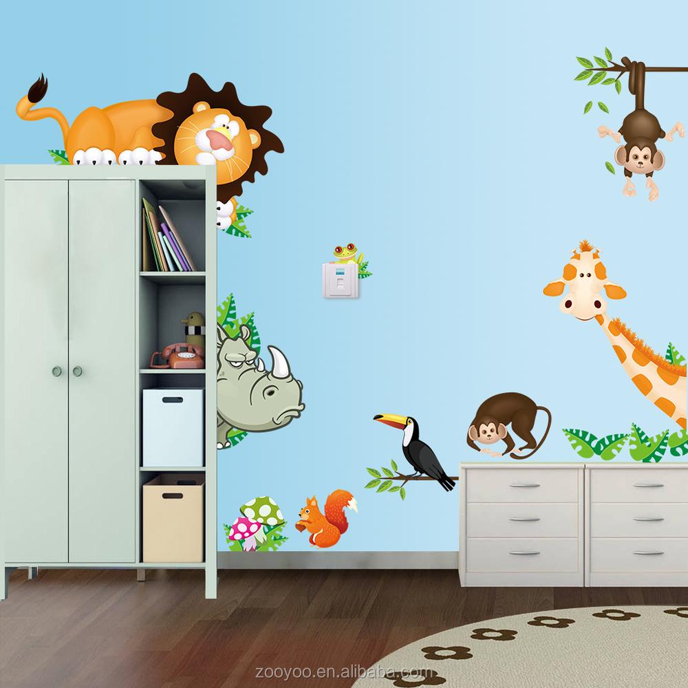 Minion Bedroom Decor Zooyoo Cartoon Animals Wall Sticker For Baby Kid Room Decoration