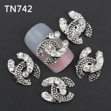 10pc fashion Rhinestones 3d Nail Art Decorations nail tools Alloy Nail Sticker Charms Jewelry for Nail