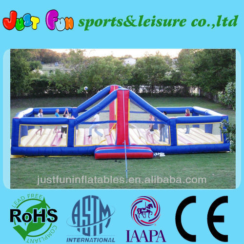 outdoor inflatable volleyball court for kids