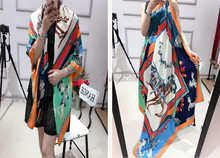 digital assorted colors printing malaysia twill silk scarf super big square size