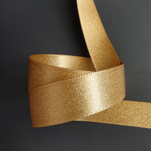 Best Mother Day Golden Party Glitter Metallic Ribbon