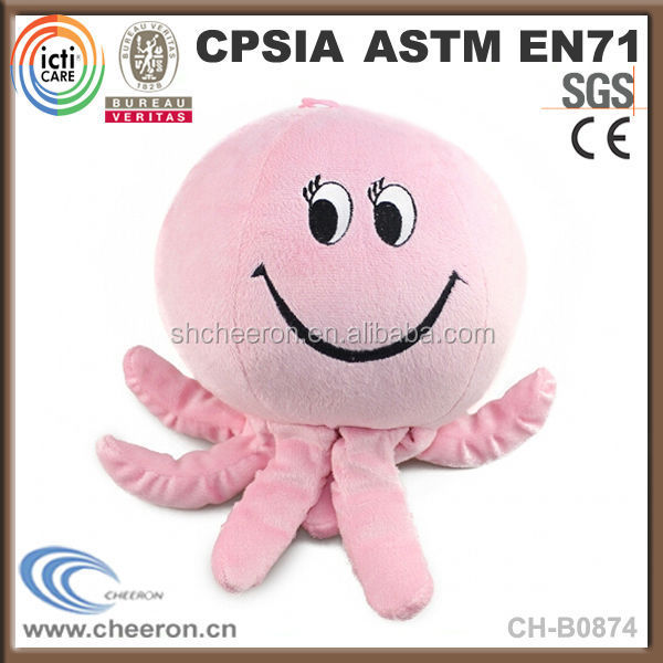 Hot sale lovely smile octopus plush toy