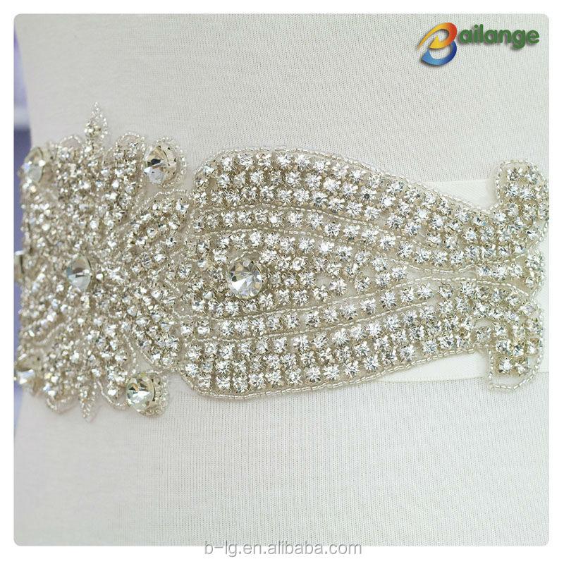 Bailange gros mariée célèbre ceinture strass strass ruban garniture pour  robe ... e57e500068c