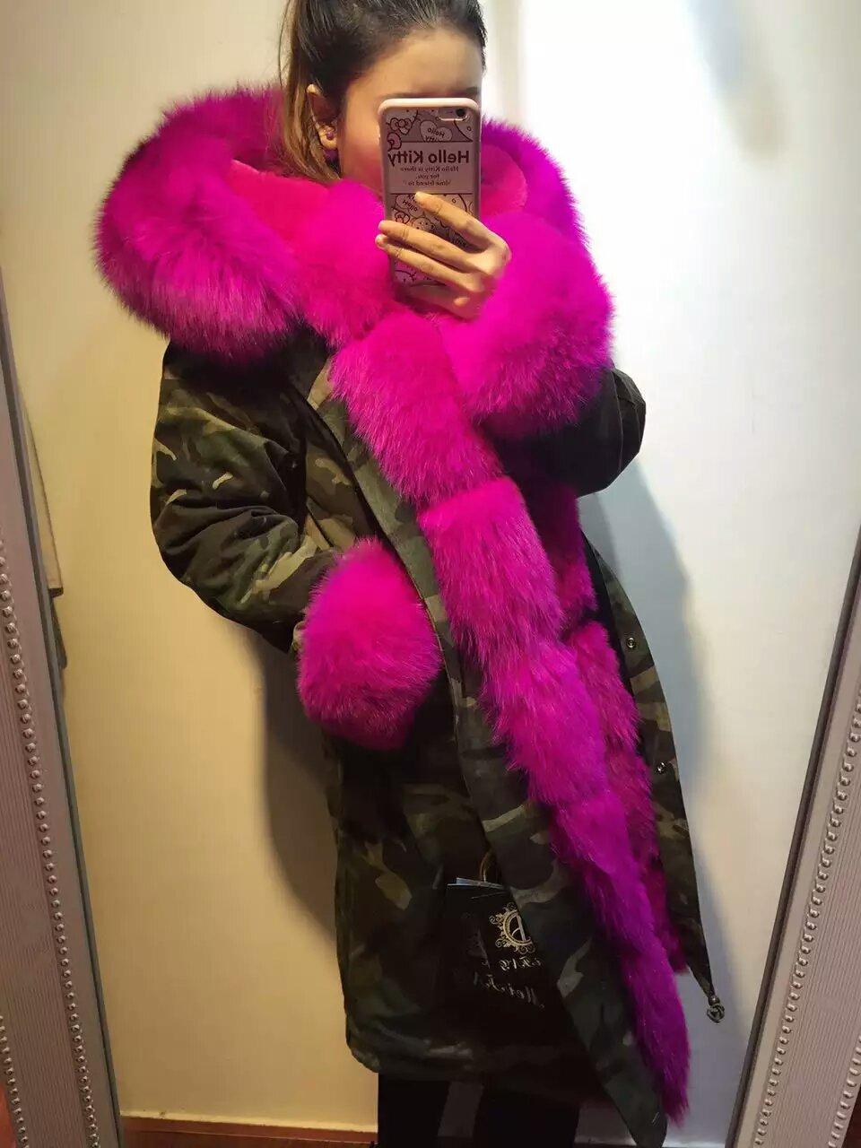 e0b156a41d530 Pink real pink fox fur parka,remove ladies pink fur for wholesale,fur hood