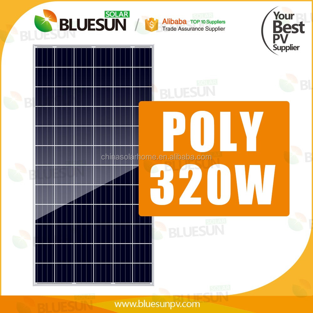 BLUESUN 72cells 320w aluminum extrusion solar panel frame materials