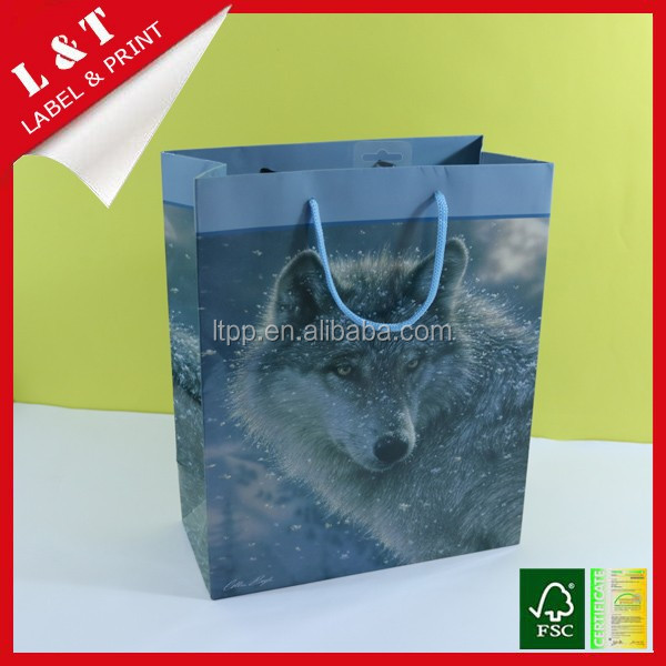 2016 new luxury shopping paper bag for clothing