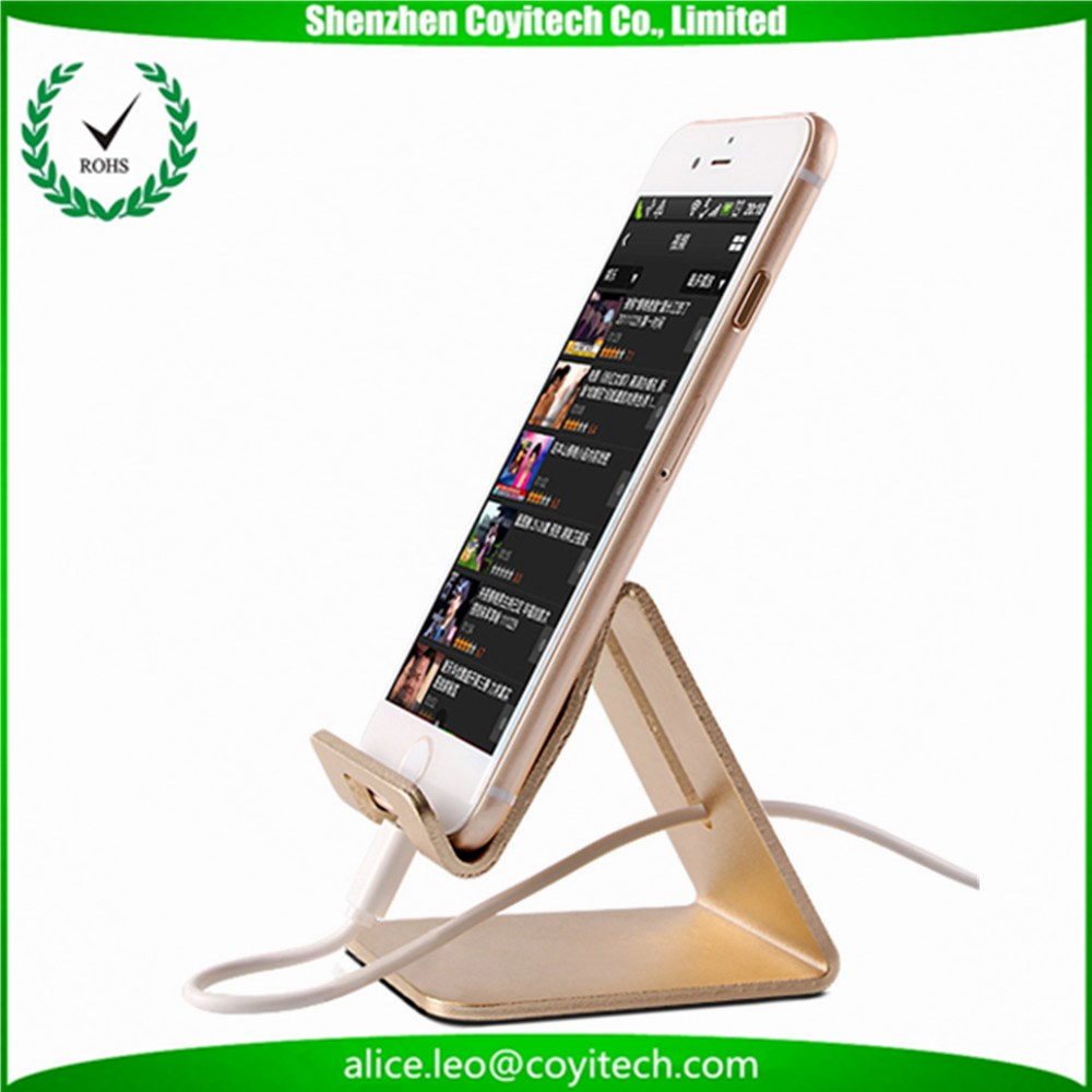 Desktop aluminum alloy tablet phone holder with logo for christmas corporates gift ideas