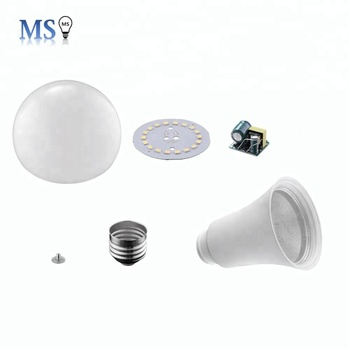 Aluminum Plastic e27 12w led bulb light skd parts led bulb light
