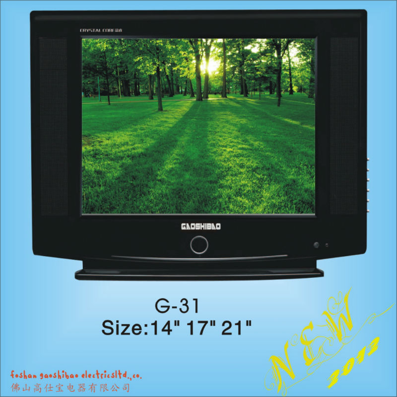 21 inch ultra slim pure flat CRT TV
