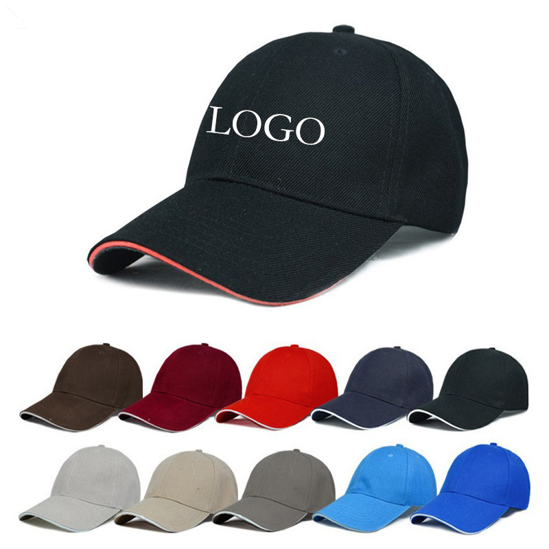 Sport promotional custom outdoor cotton polyester oem caps adjustable golf baseball cap with embroidery