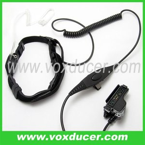 For Motorola uhf radio XTS3000 MTS2000 with vox PTT throat vibration headset