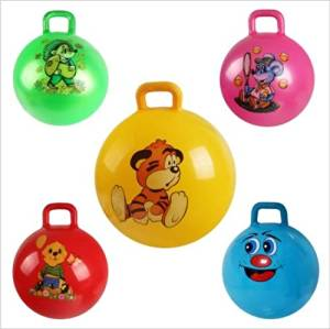 .Inflatable Bouncing Ball Sport Toy Colorful Cartoon Animal Educational Toy Ball for Baby of 1pc