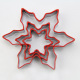Different sizes flower snowflake shape stainless steel biscuit cookie cutter set of 3 with silicone edge