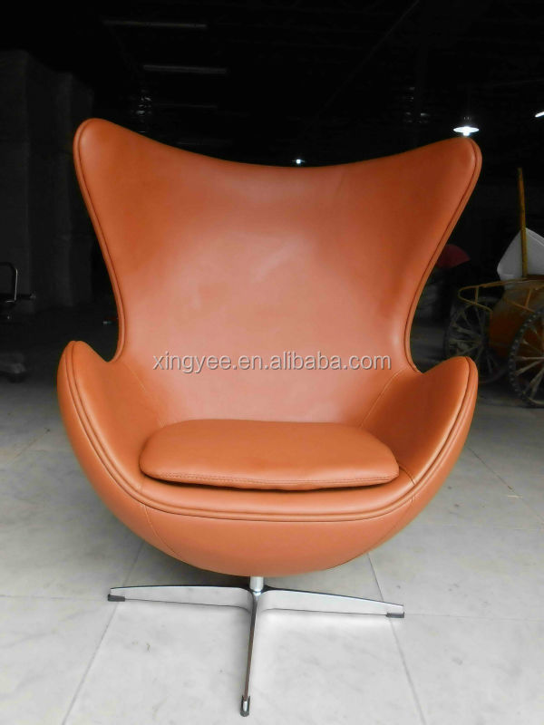 Modern Lounge Furniture Egg Chair Swivel Fiberglass Egg Chair Replica  Cashmere Wool Fabric Arne Jacobsen Egg