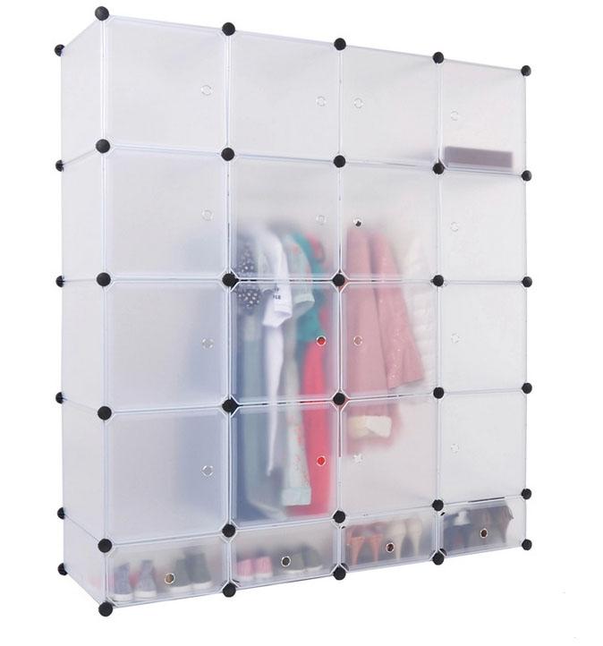 20 Cubos Barato Montar Plástico Armario Portátil Armario Con Puertas ...