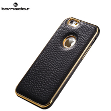 New products 2017 innovative product leather cover metal bumper shockproof case for iPhone 7