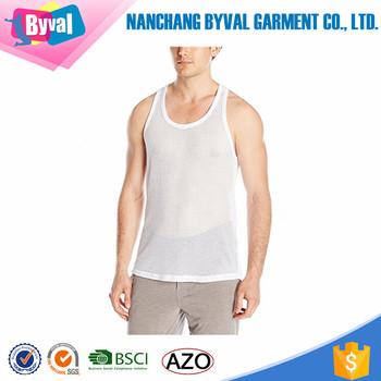 db6447a9fc18d Mens String Mesh Vest Fitted 100% Cotton Gym Training Tank Top T Shirt Fish  Net