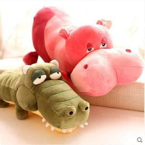 Gift for kids 1pcs 40cm/55cm funny creative crocodile hippo cartoon cute plush hold doll pillow novelty children stuffed toy