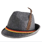 Gray alpine german oktoberfest hat MH-0611