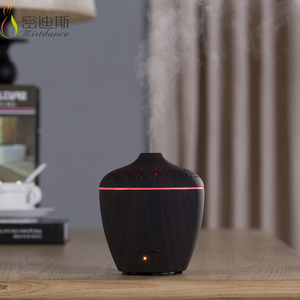 Private label purely home fragrance ultrasonic led light aroma lamp black matte diffuser