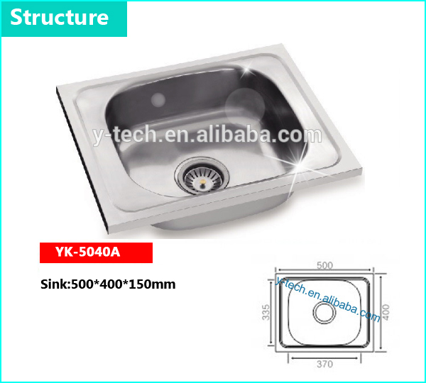 sri lanka size stainless steel portable sinks kitchen with low prices sink kitchen sinks corner YK-5040A
