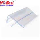 Supermarket glass shelf price tag data strips label holder for glass shelves