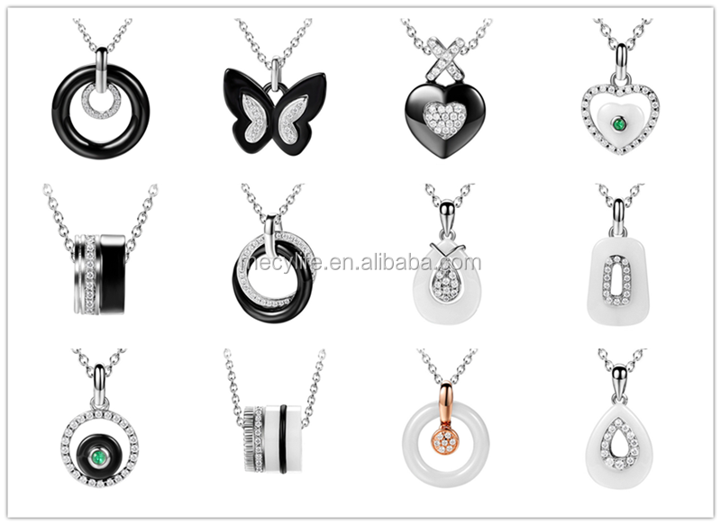 MECYLIFE Stainless Steel Cubic Zirconia Engraved Initial Disc Necklace Alphabets Pendant Designs