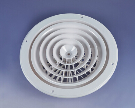 Hvac Round Adjustable Ceiling Abs Air Grille Exhaust