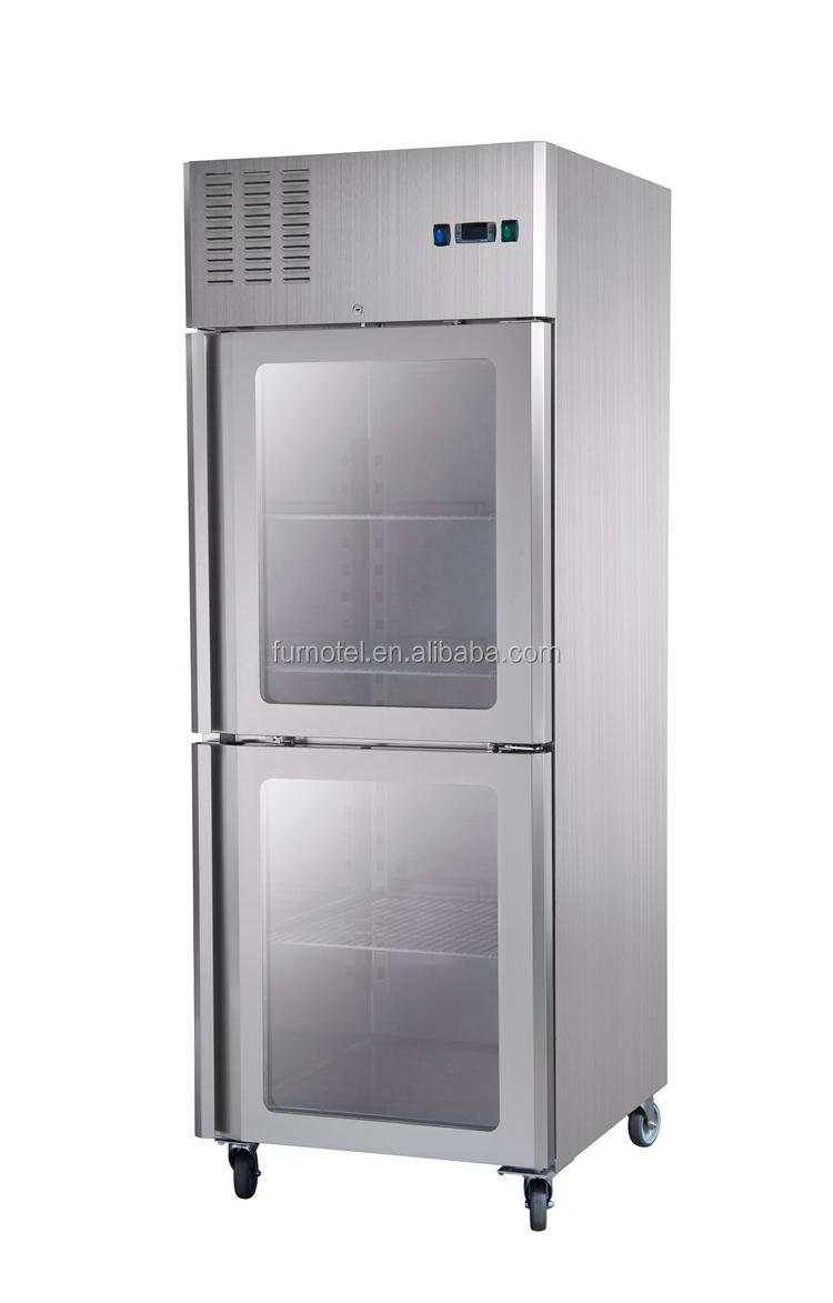 Restaurant Kitchen Fridge frcf-3-3 furnotel restaurant kitchen fridge glass door upright