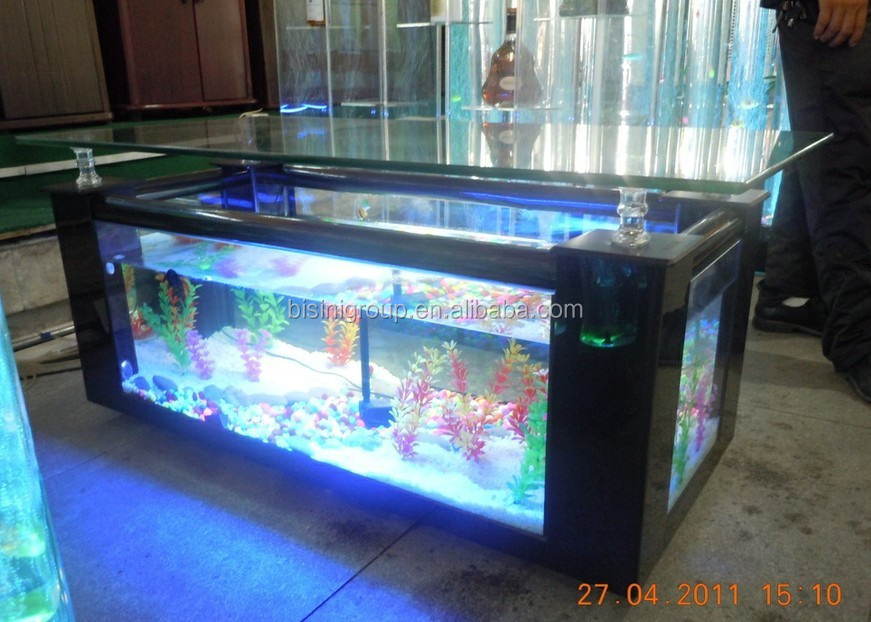 square shape marble grain acrylic aquarium table fish tank integrated accessories bf09 41043. Black Bedroom Furniture Sets. Home Design Ideas