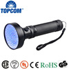 waterproof uv led lighting torch 100 led uv flashlight