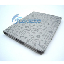 Magnetic Smart Cover Leather Case cover for ipad2,Cute Pattern Cover with Stand Function
