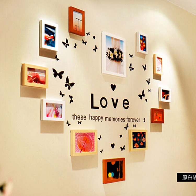 Handmade Wall Hanging Love Heard Picture Frame latest Design Wood