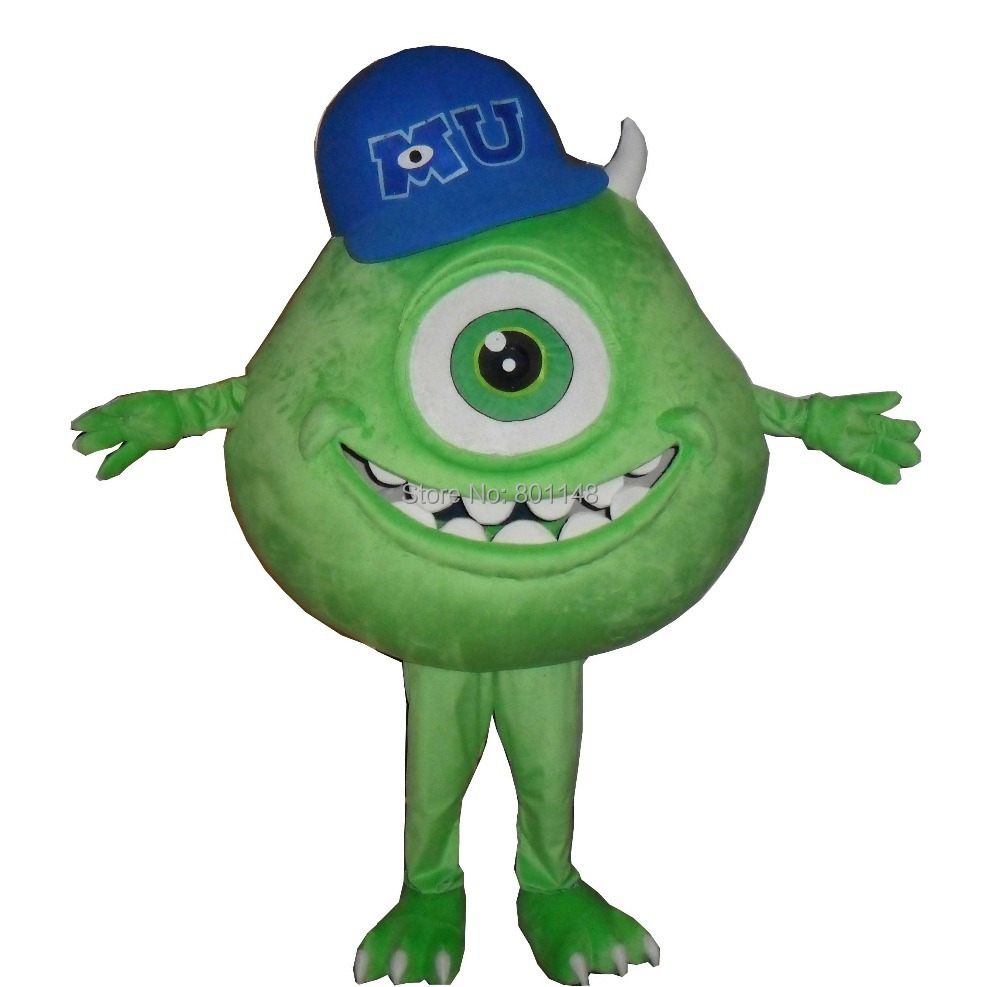 d0343fe7dbc2 Get Quotations · Monsters University Mike Wazowski Mascot Head Costume  school mascots cartoon character costumes movie costumes for kids