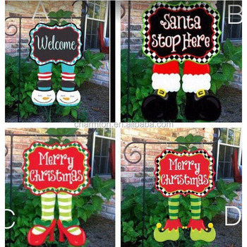 wholesale cute monogram elf christmas yard flag - Wholesale Christmas Yard Decorations