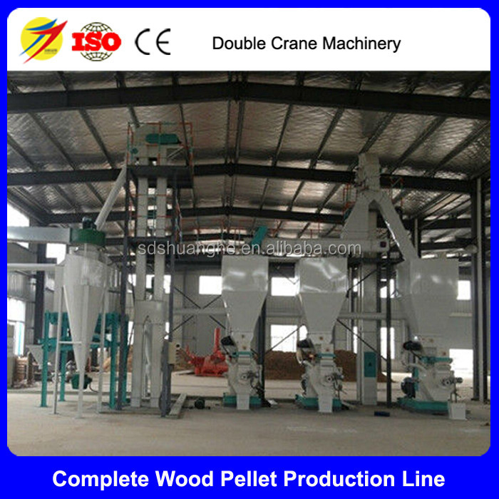 Complete pellets machine line wood pellet production