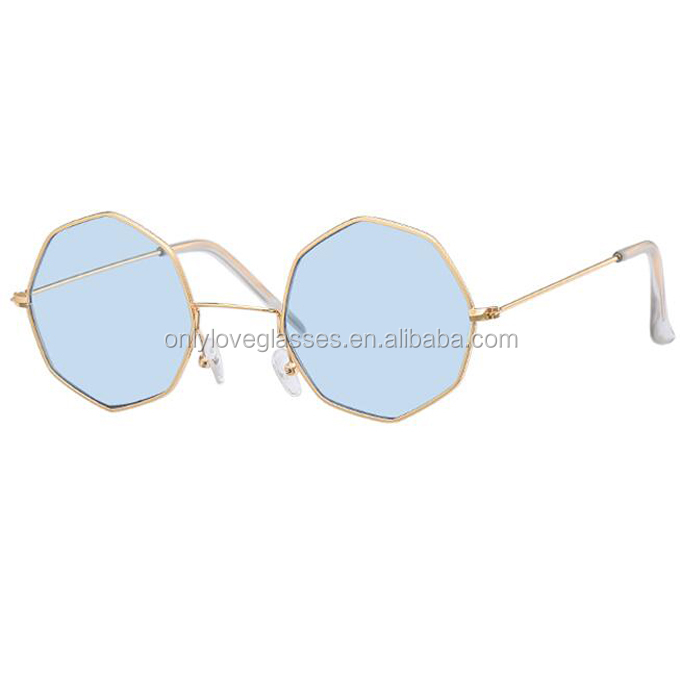 Alloy trendy  Female Mirror Sunglass candy colored women sunglasses